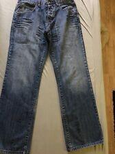 Damenjeans schicke Jeans Gr. 32.. Roca Wear Jeans mit Stickereien Totenkopf