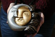 """TIMMY WOODS """"ECLIPSE"""" UNIQUE CELESTIAL SUN MOON LOVE YOU FOREVER HANDBAG SIGNED"""