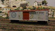 Train Miniature HO State of New Jersey 40' DS Wood Boxcar, Upgraded, Ex