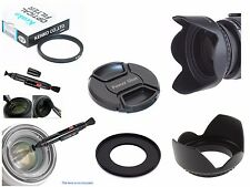 FP17u UV Filter + Lens Hood + Powershot Cap + Ring + LensPen for Canon SX500 IS