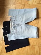 LOF OF 2 ZARA AND MANGO SKINNY JEANS LIGHT BLUE AND DARK BLUE 26 AND XS