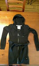 Victorias Secret Angels Full Zip Drawstring Hoody Dress with a Sash Size S