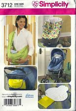 Simplicity Sewing Pattern 3712 Baby Accessories Bunting Sling Changing Pad UC