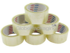 6 rolls of LOW NOISE clear PACKING TAPE 48mm x 66M