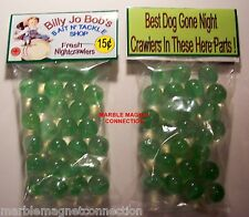2 BAGS OF BILLY JO BOB'S BAIT N' TACKLE SHOP ADVERTISING PROMO MARBLES