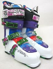 NORDICA ACE OF SPADES SKI BOOT- WHITE/PURPLE- SIZE:27.5 -!!!!NEW!!!!