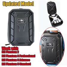 Upgraded DJI Phantom 2 3 Hardshell Backpack Shoulder Carry Case Hard Shell Bag