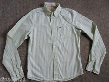 Hollister men's shirt, size L, long sleeve,light green  striped