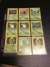 Pokemon Cards Lot Of 9 1999 Wizards And Later Gloom Indoor an Scyther  #13