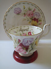 ROYAL ALBERT - FLOWER OF THE MONTH SERIES - SWEET PEA - APRIL TEACUP AND SAUCER