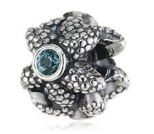 AUTHENTIC PANDORA SILVER BEAD TEAL CZ Silver Spinel Starfish Charm 791163SST
