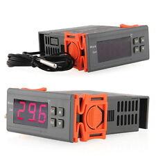 220V-Digital-LCD Temp Temperaturregler Schalter Thermostat w / Sensor Nue DE