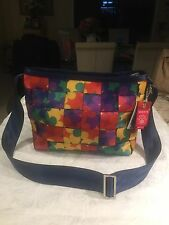 Harveys Seatbelt Disney Couture Multi Color Pop Art Mickey Convertible Tote Bag