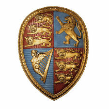 REPLICA ROYAL COAT OF ARMS BATTLE SHIELD HERALDIC LIONS ENGLISH WALL DECOR NEW