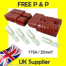 Anderson Style Plug SB175 AMP Battery Connector Slave Jump - Pair RED 25mm2 175A