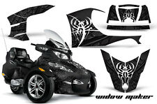 AMR Racing Can Am BRP RTS Spyder Graphic Kit Wrap Street Bike Decal WIDOW BLACK