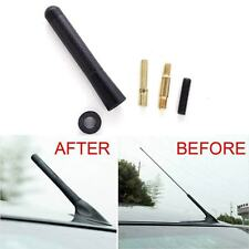 "1Pcs Universal 3""  8mm Black Carbon Fiber Screw Aluminum Car Short Antenna"