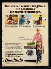3w732/ Alte Reklame - von 1979 - CONSTRUCTA Waschmaschinen