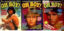Oh Boy! - 3 British Annuals UK HB VF+ IPC Magazines 1979, 1983, 1985 teen music