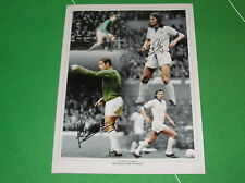 Peter Shilton & Frank Worthington Dual Signed Leicester City FC Legends Montage