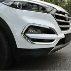For Hyundai Tucson 2016 2017 abs chrome front head fog light lamp cover trim