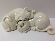 "Vintage 1977 Fitz and Floyd ""Cat Nap"" salt and pepper shakers."