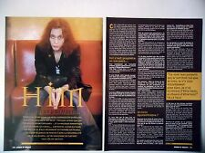 COUPURE DE PRESSE-CLIPPING :  HIM [2pages] 01/2002 Ville Valo,Deep Shadows...