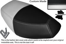 WHITE & BLACK CUSTOM FITS PULSE SCOUT 50 BOATIAN DUAL LEATHER SEAT COVER