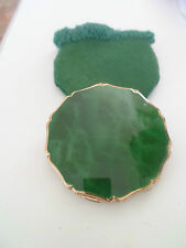 Gorgeous Vintage Stratton Compact Green Marbled Onyx Effect Lid