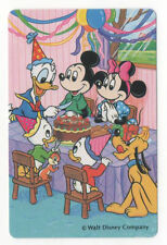 Playing Swap Cards 1 Japanese Disney Mickey Mouse Donald Goofy 1980's J118A