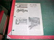 1969 WHEEL HORSE DOZER BLADE 6-9622 INSTRUCTIONS & ILL PART LIST revised 2-1972