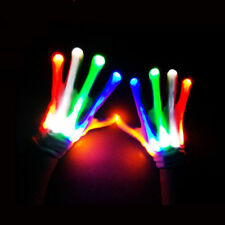 LED Flashing Light Gloves Finger Lighting Electro Rave Party Dance 7 Mode USA