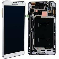 Original Samsung N9005 Note 3 Komplett LCD Display Touchscreen Rahmen - Weiß