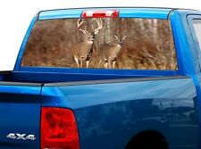 P449 Deer Buck Rear Window Tint Graphic Decal Wrap Back Truck Tailgate