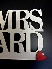 Personalised Mr & Mrs sign Freestanding Top Table Wedding Decoration WITH  TEXT
