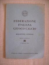 F.I.G.C. FEDERAZIONE ITALIANA GIUOCO CALCIO  BOLLETTINO UFFICIALE 15/5/1953