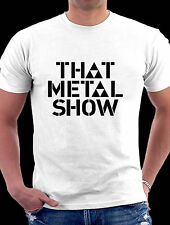 The Metal Show Tv Hard Rock And Heavy Metal Black / White Tee Shirt Small - 3 XL