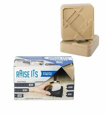 Raise Its raiseits Furniture bed Risers  16  - Set of Two 8-packs (Khaki)
