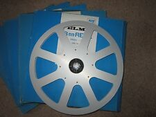 3 x ELMO 1200 ft Aluminium reel with Original card sleeve super 8 spools