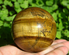"50 mm (1.98"") Yellow Tiger's Eye Tiger Eye Sphere Chatoyant Ball Healing"
