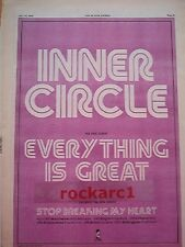 """INNER CIRCLE Everything Is Great 1979 UK Poster size Press ADVERT 16x12"""""""