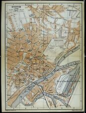 STETTIN, alter Stadtplan, gedruckt ca. 1900