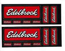 Edelbrock Racing Decal Sticker Sheets of 7 Set of 2