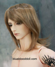"1/3 bjd 9-10"" doll head copper color synthetic mohair wig Soom ID Pullip Feeple"