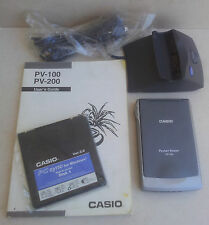 Casio Pocket Viewer PV-100 Multi-Lingual W/ Manual Cradle Software Made in Japan