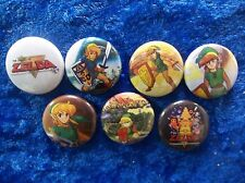 "1"" pinback buttons inspired  by ""The Legend of Zelda"" set 2 nes nintendo  link"
