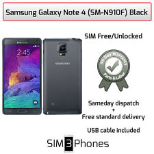 Samsung Galaxy Note 4 32GB (SM-N910F) Black Unlocked - Average Condition/Grade C