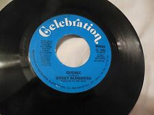 Sweet Blindness Quebec 45 Rare Sexy Soul Promo Celebration CE1006