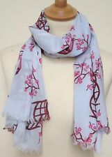 NEW 100% COTTON WOMEN'S CHERRY BLOSSOM PRINT SCARF