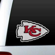 "BIG 12"" KANSAS CITY CHIEFS CAR HOME PERFORATED WINDOW FILM DECAL NFL FOOTBALL"